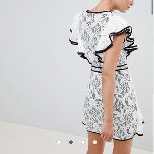 Contrast Frill ASOS Dress